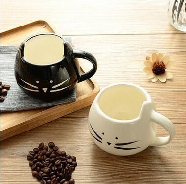 60 sztuk/partia Boutique filiżanka kawy kot zwierząt kubek do mleka ceramiczny miłośników kubek śliczny prezent urodzinowy, prezent na Boże Narodzenie lin4886