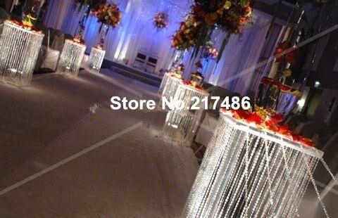 (No incluye el jarrón de flores) pilares altos de columna iridiscente para decoración de pasarela