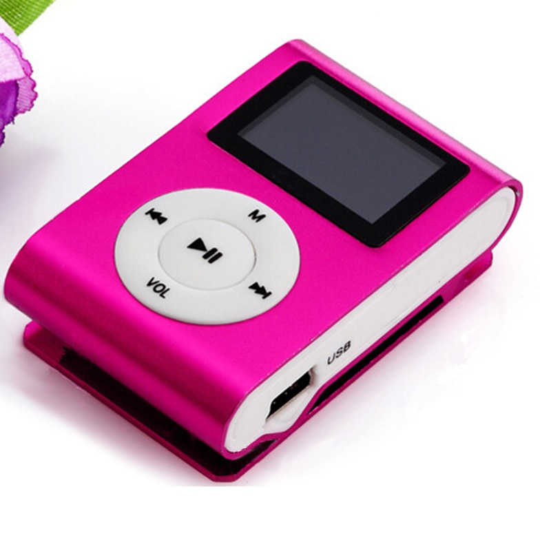 2019 MP3 Player Mini Music Media Clip Player Portable LCD Screen USB Support Micro SD TF Card Walkman Lettore D30 Music Player