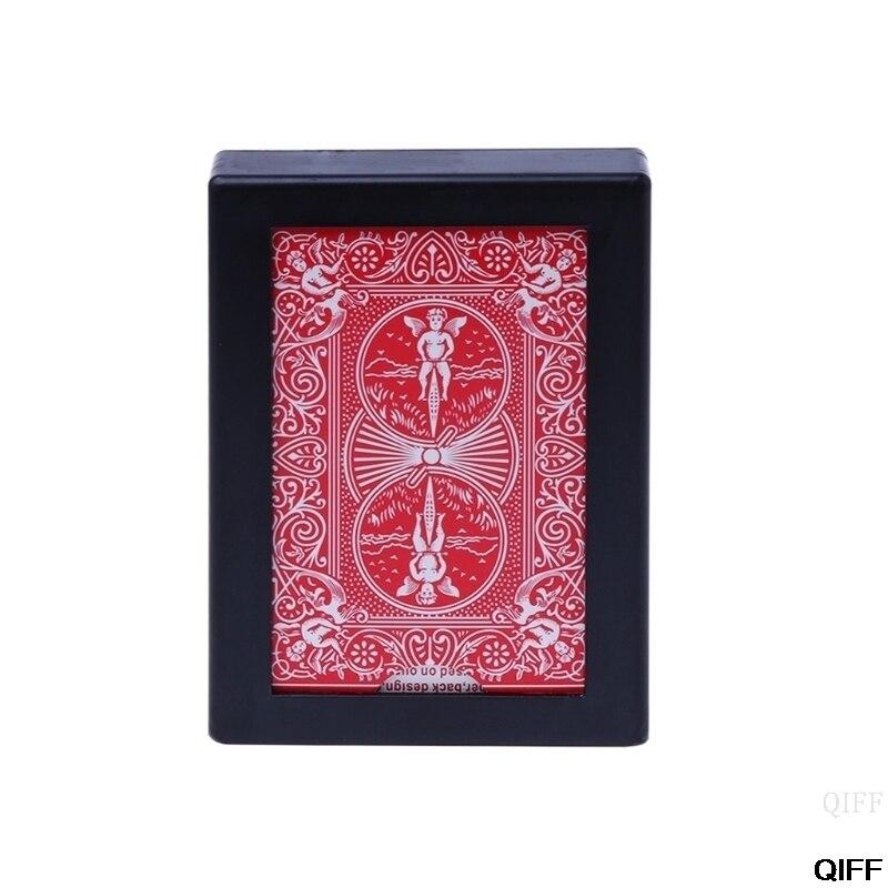 Drop ship & atacado novo desaparecendo caso cartão de poker fechar-se truque mágico brinquedo fácil de fazer may06
