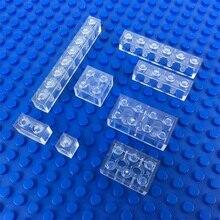 Briques transparentes bloc lumineux lumière LED bricolage stroboscope lampe Flash luminescente blocs de construction colorés jouets pour les enfants