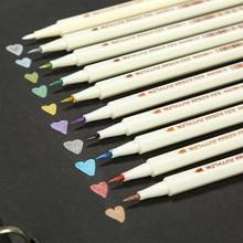 STA Metallic Paint Brush Marker Pen For DIY Photo Album Scrapbooking Crafts Card Making