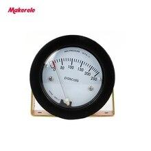 Compteur de pression différentielle dair TE5000 0-250 Pa Mini taille facile à monter pointeur-68 ~ 103KPa