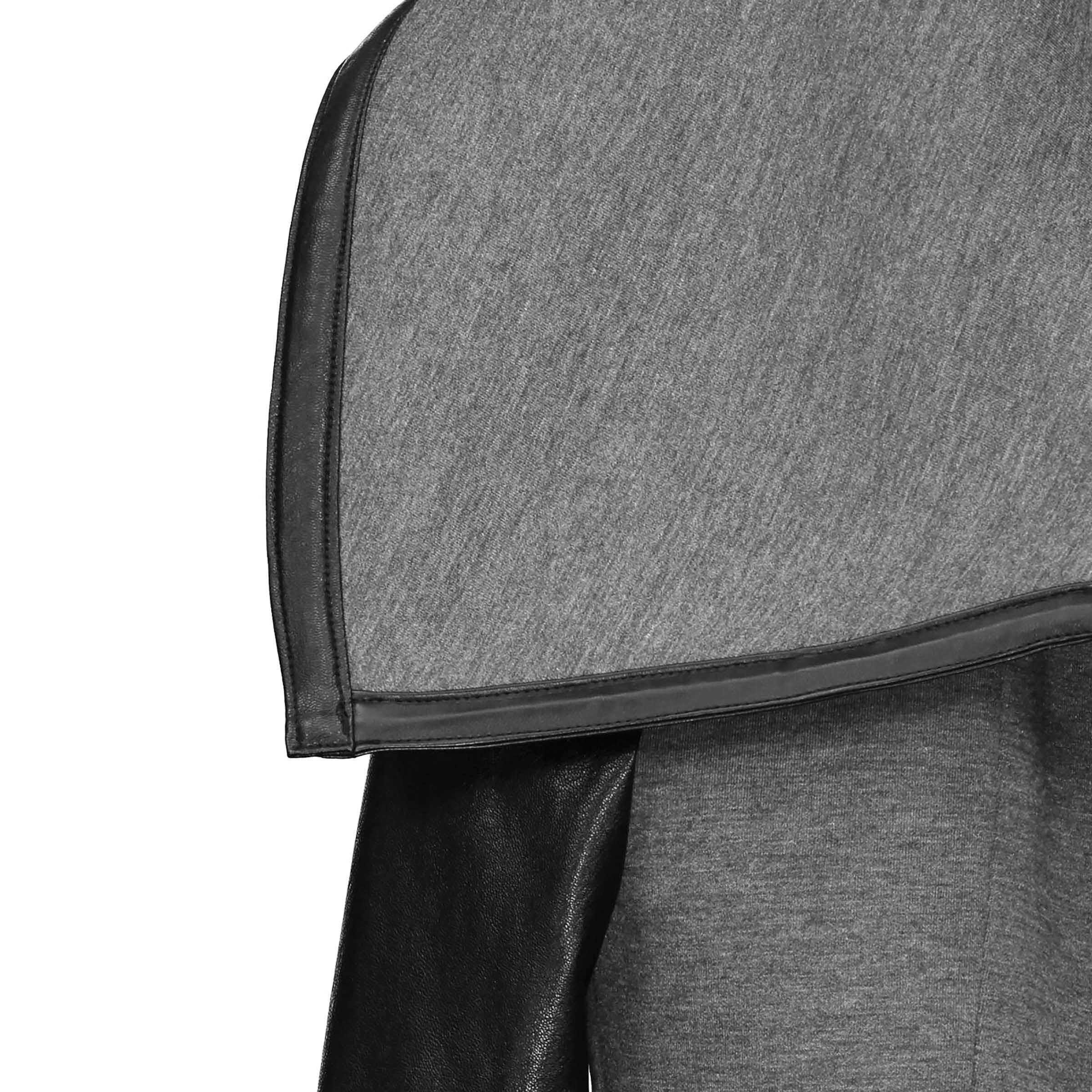 Grey faux leather PU Jacket Women  fashion rose Winter AutumnMotorcycle Jacket Black faux leather  Coat Outerwear Gothic enlarge