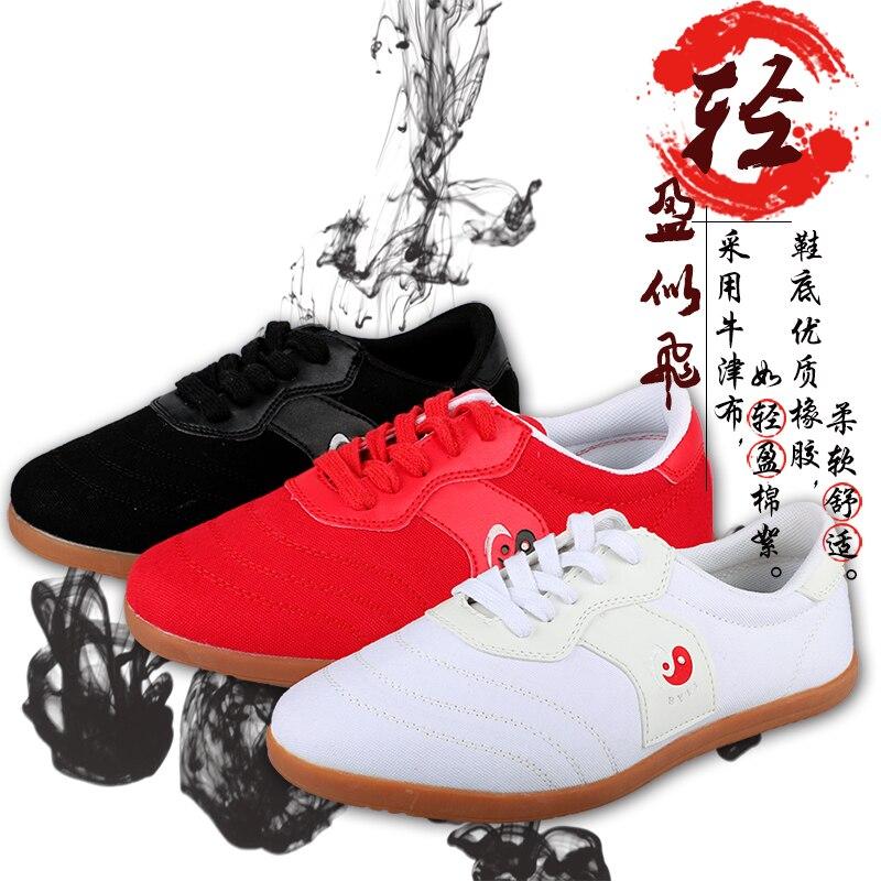 Top Quality Red Cor Da Tela Taichi/Tai Chi Sapatos Sapatos de Kung Fu Wing Chun Tai Chi Slipper Martial Art Sneaker sapatos Taekwondo