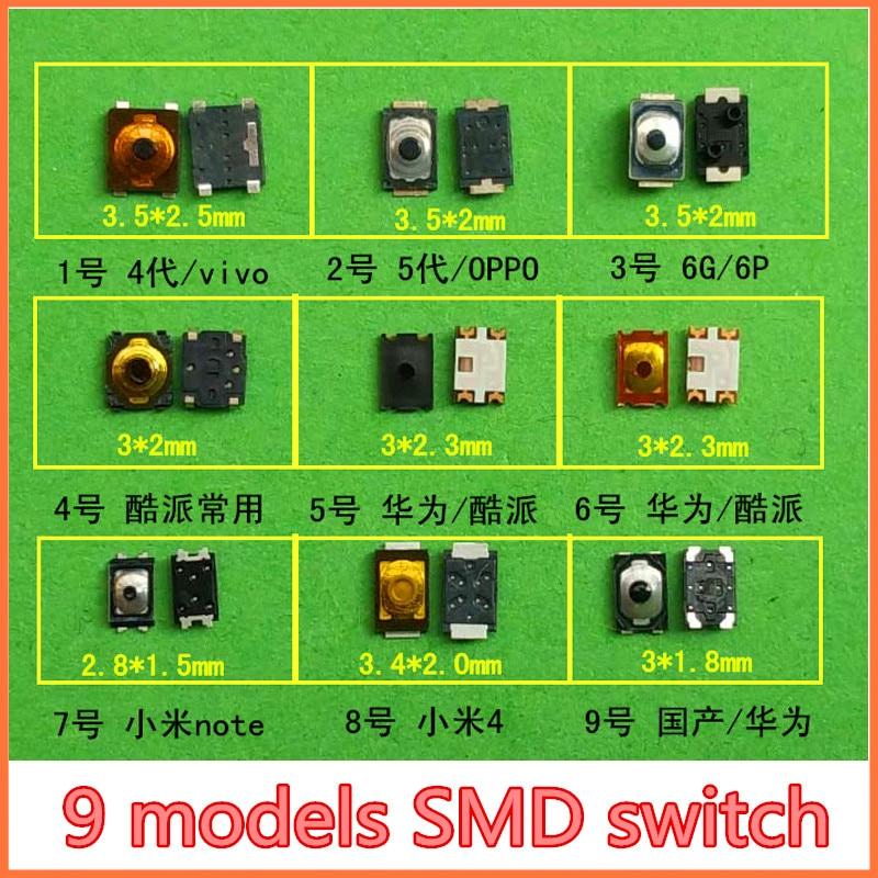 Microinterruptor de botón táctil para móvil, botón táctil para Samsung S2, S3,...