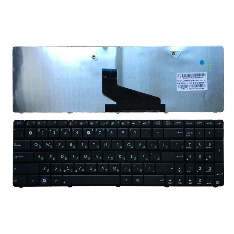Tastiera russa per la Tastiera ASUS K53U K53T X53U K53Z K53B K53BR X53BY K53TA K53TK K73BY K73T K73B K73TA X73B X73CBE K53BY k73Y RU nero