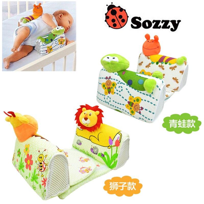 0 M + bebé dormir posicionador almohada Anti-Roll posicionador para dormir para niños recién nacido Niño dormir almohada de enfermería León muñeco de rana figura