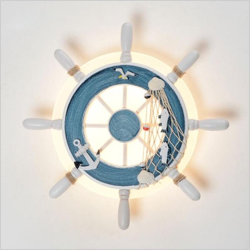 Mediterranean LED  Wall Lamp Creative Helmsman Lighting AC85-265V Acrylic Wall Lamps