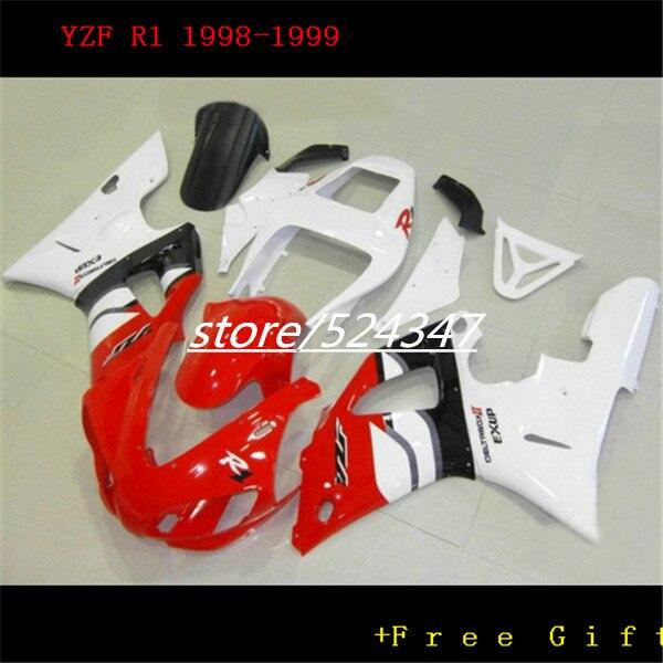 Hey-Cheap price motorcycle  fairings kit for  1998 1999 YZF R1 98 99 YZFR1 Lucky strike  plastic fairing kits for Yamaha-Hey