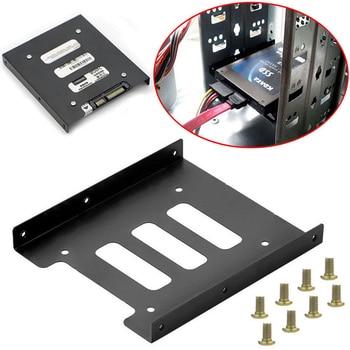 Support d'adaptateur à montage en métal pour disque dur SSD de 2.5 pouces à 3.5 pouces, boîtier à vis pour disque dur PC