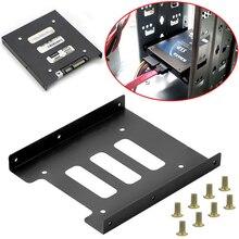 Support dadaptateur en métal pour disque dur SSD de 2.5 pouces à 3.5 pouces, support dadaptateur pour disque dur de PC 8 vis