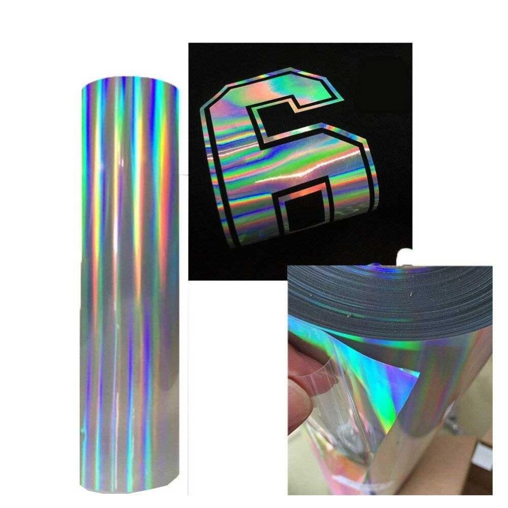 Transferencia de Calor vinilo ancho 20 pulgadas de longitud libre para ser personalizado Transferencia de Calor holograma vinilo planchado para htv camisetas DIY ropa