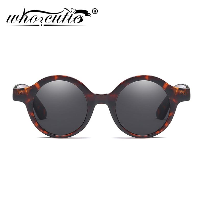 Маленькие круглые солнцезащитные очки WHO CUTIE, винтажные дизайнерские солнцезащитные очки 90s в леопардовой оправе с круглыми линзами 469B, 2019