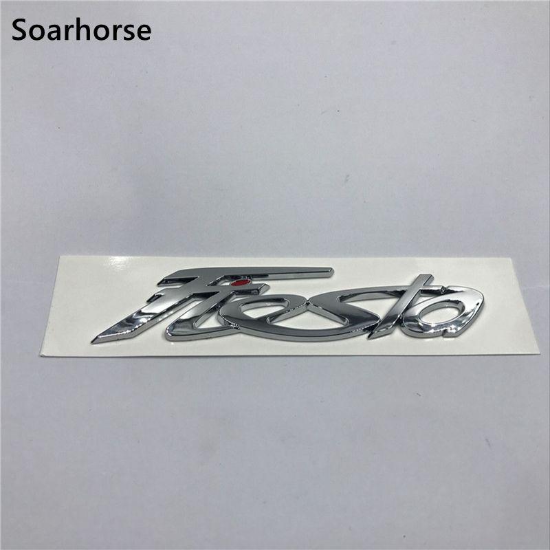 Samochód soarhorse stylizacja dla Ford Fiesta Logo Auto Tial Gate 3D srebrny znaczek z symbolem tabliczka znamionowa