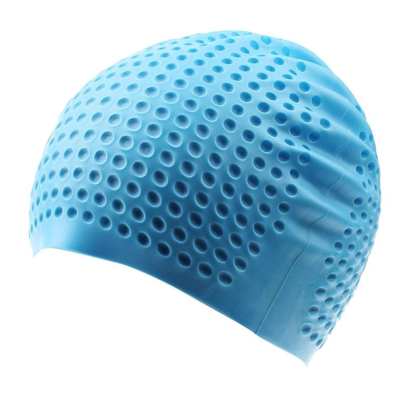 5 Colors Silicone Rubber Swimming Caps Unisex Swimming Caps Adult Men Women Waterproof Swim Caps Hat Swimming Accessories