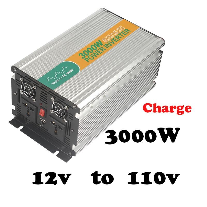 3000W  ac 120v dc12v converter inverter for home use with charger modified sine power inverter 3000 watt inverter