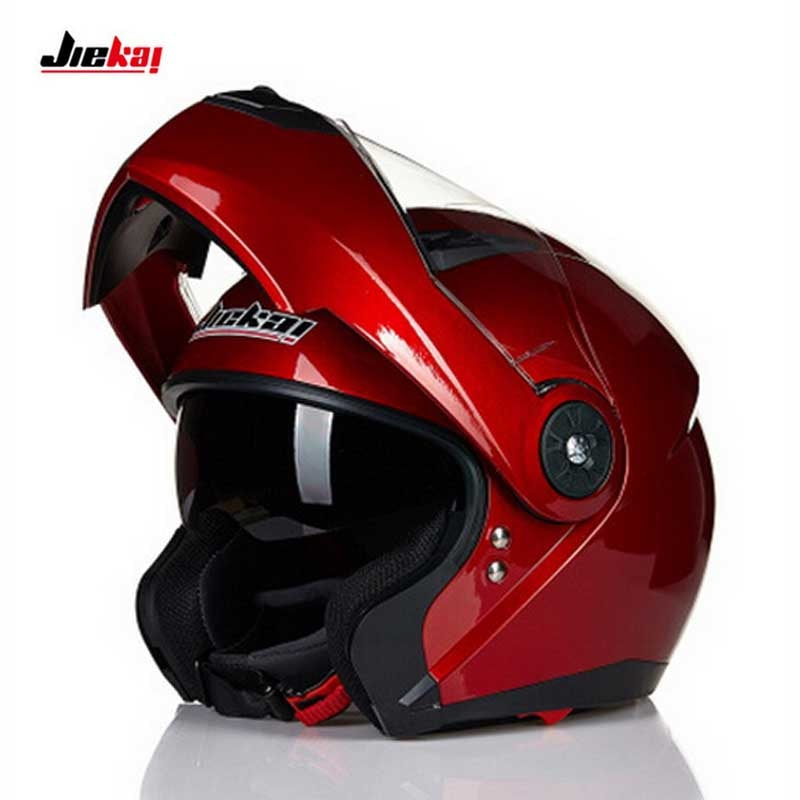 Jiekai jk115 flip up moto rcycle capacete, dupla viseira moto moto rbike moto cruz capacete preto branco amarelo vermelho m l xl 2xl
