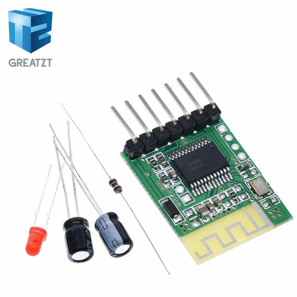 GREATZT Plantilla de receptor de audio Bluetooth, altavoz inalámbrico estéreo, amplificador de potencia modificado DIY módulo Bluetooth 4,0