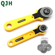 Couteau à tissu de 28mm   Outils de coupe rotative, couteau de coupe rond pour tissu, couteau à découper à la main rotatif pour tapis, couteau de coupe pour cuir