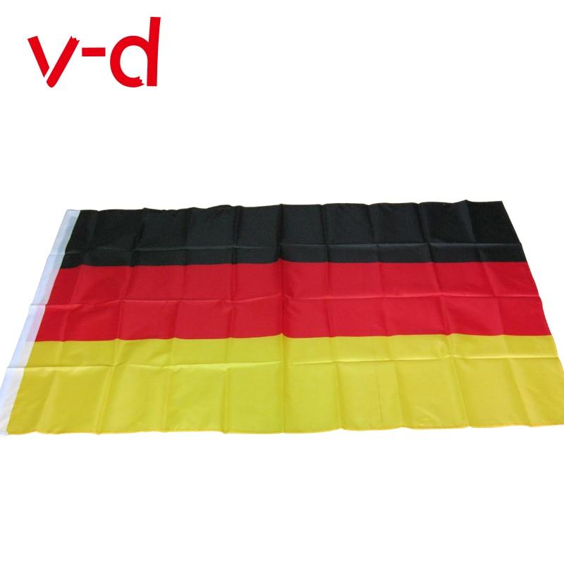 Frete grátis xvgdg novo 3x5 pés grande bandeira alemã poliéster a alemanha bandeira nacional decoração de casa
