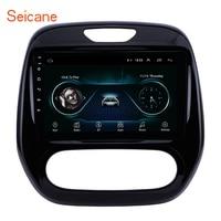Seicane Android 2DIN Car Head Unit Radio Audio GPS Multimedia Player For Renault Captur CLIO Samsung QM3 Manual A/C 2011-2016