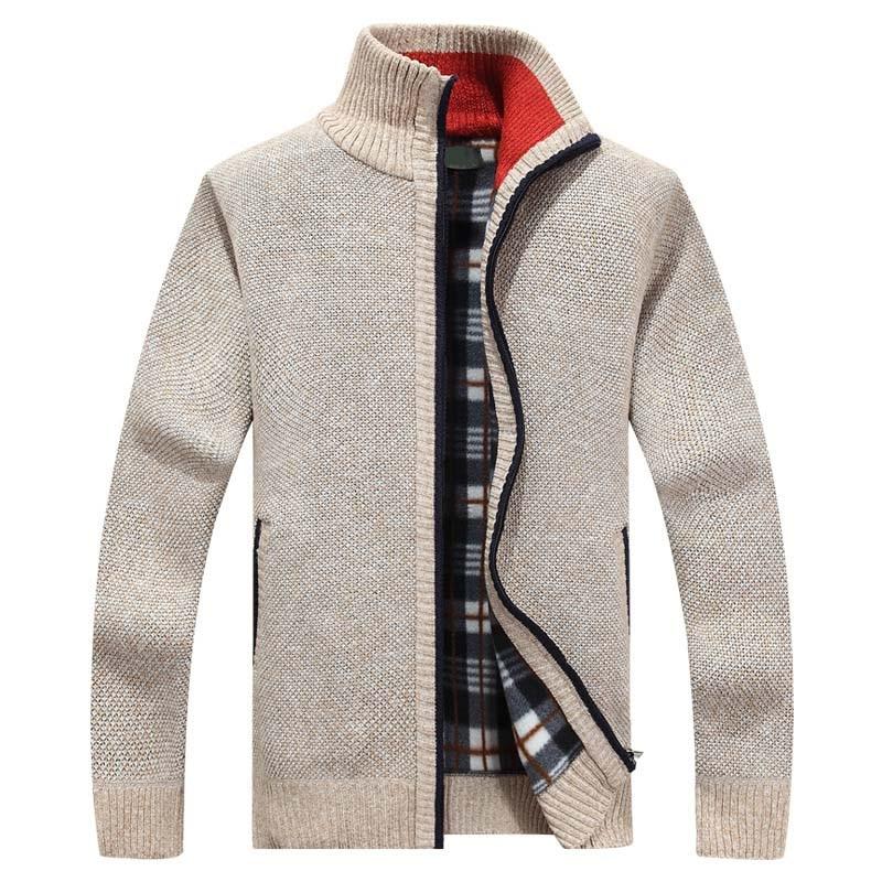 2020 New Men's Sweaters Autumn Winter Warm Cashmere Wool Zipper Cardigan Sweaters Man Casual Knitwear Sweatercoat male clothe