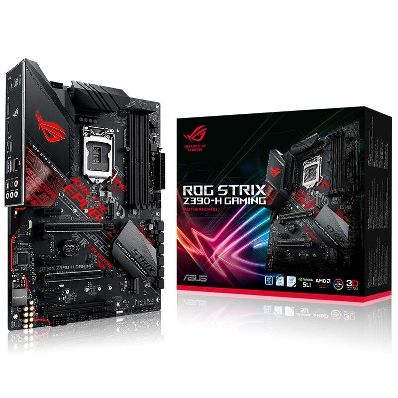 ASUS STRIX Z390-H игровая Настольная компьютерная игровая плата 1151pin поддерживает I9 9900K 9700K новый оригинальный