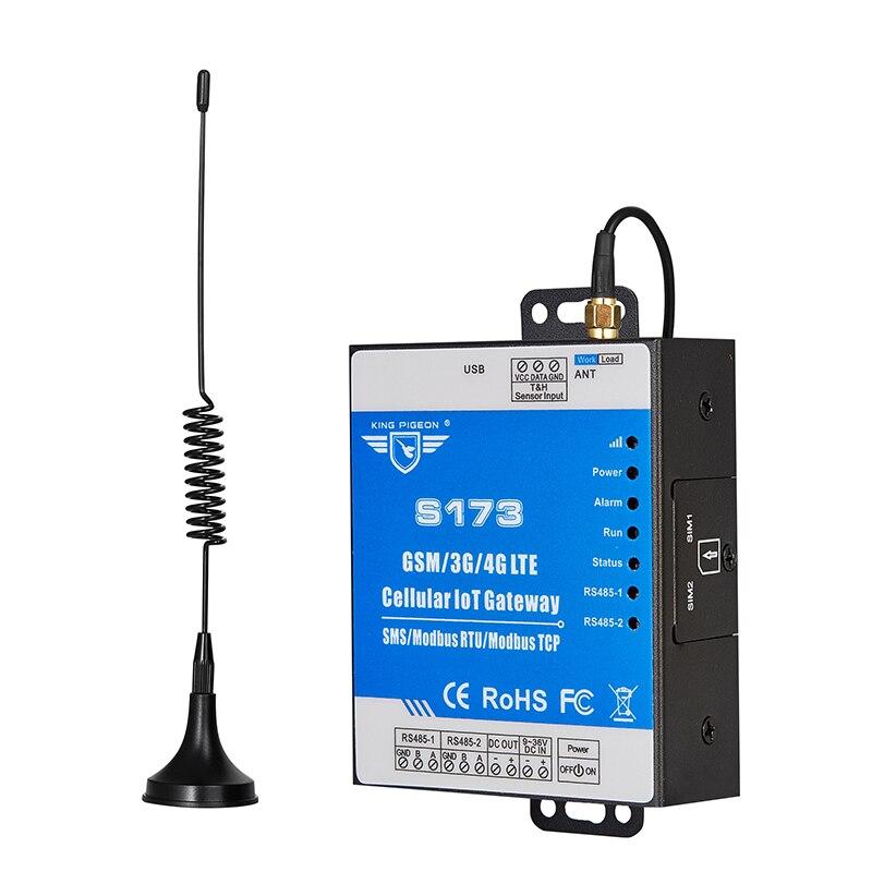 4G шлюз промышленный IoT RTU для смарт-метров PLC Считывание данных передачи на сервер RS485 до 4G GPRS конвертер S173