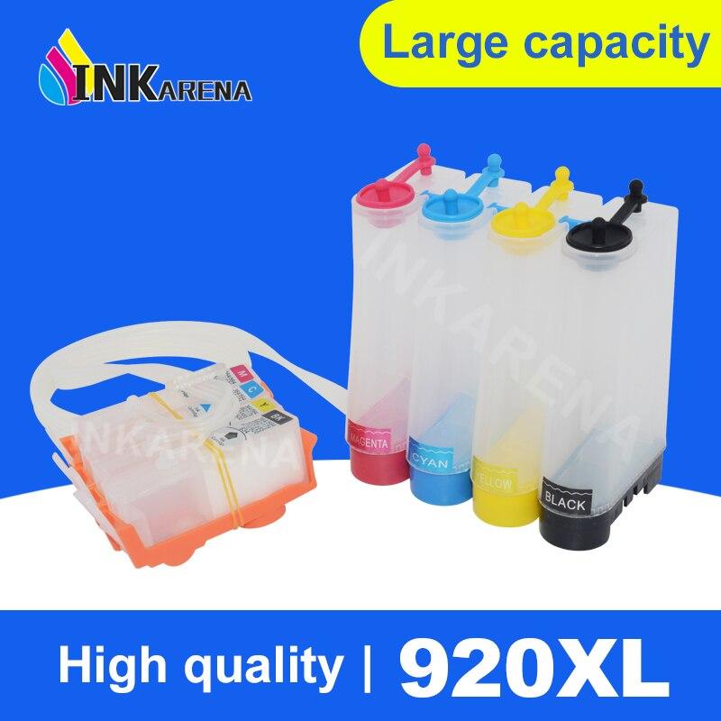 4 cor/Set Sistema de Abastecimento Contínuo de Tinta Para HP 920 Ciss Para HP Officejet 6000 6500 6500A 7000 7500 7500A Tanque Ciss de Impressora