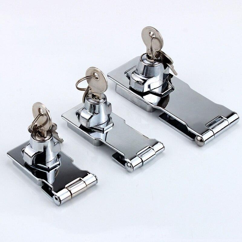 ثقب ضياء 4 مللي متر خزانة الباب معدن مطلي بالكروم مرتبطا أقفال أمان قفل للدرج مزلاج خزانة دولاب مكتب أقفال أمان s مع مفاتيح