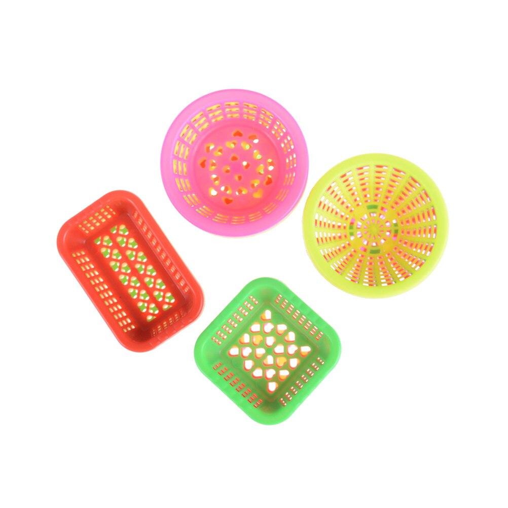 4 Uds. 112 canasta de muñecas Casa de bolsillo Mini cesta redonda cuadrada miniatura DIY accesorios de cocina