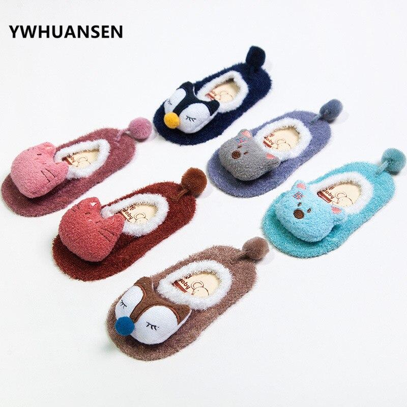 YWHUANSEN Winter Girls Socks For Toddlers Kids Kids Cartoon Socks Footwear For Children Baby Socks For Boys Socks Non-sliding