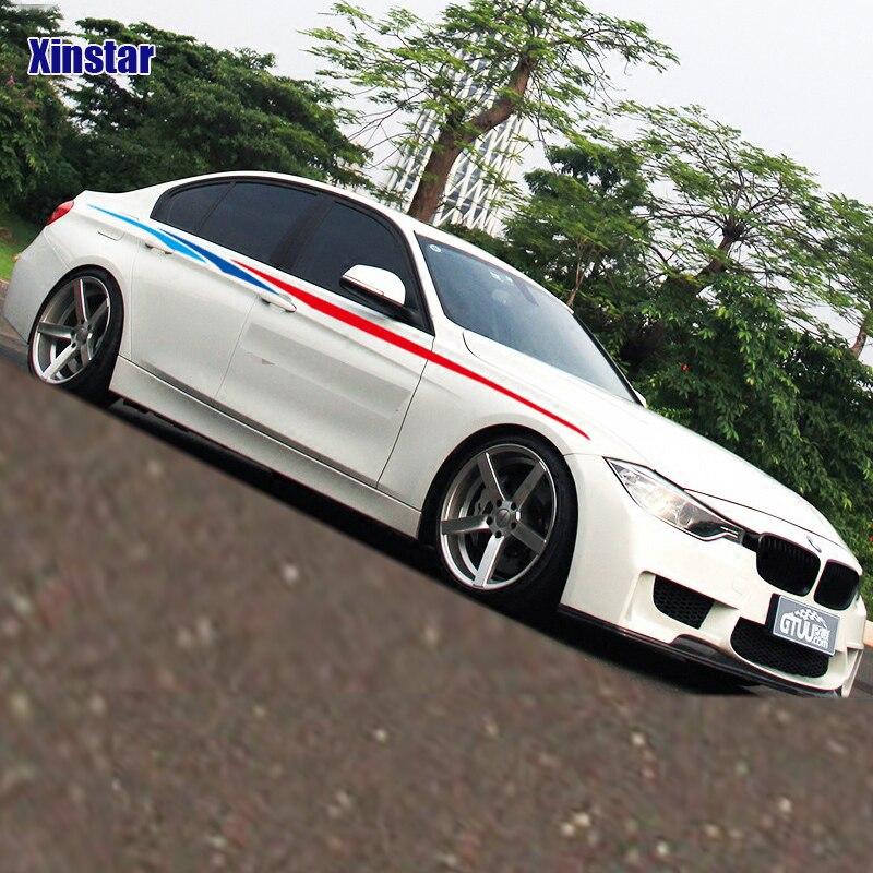 2 piezas M rendimiento del lado del coche de etiqueta para bmw E38 E39 E46 E60 E61 E64 E70 E71 E85 e87 E90 E83 F10 F20 F21 F30 F35
