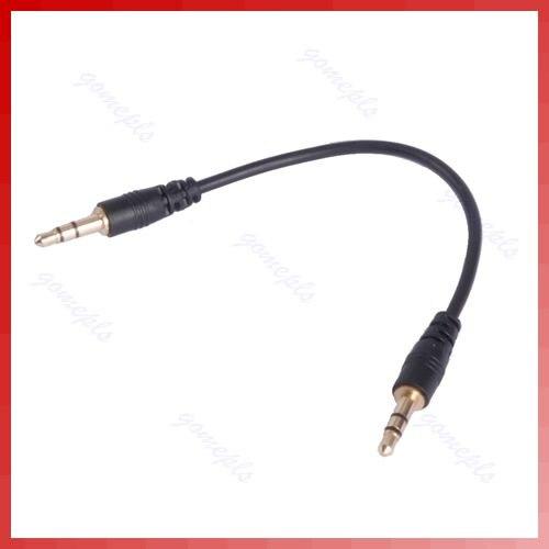 "1 PC ""3.5mm Macho para macho Stereo Jack de Áudio Fone De Ouvido Cabo de Chumbo Fio Preto"