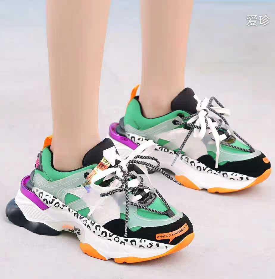 2019 moda feminina chunky tênis rendas até sapatos de plataforma femininos tenis casual papai sapatos sexy dames schoenen zapatillas mujer