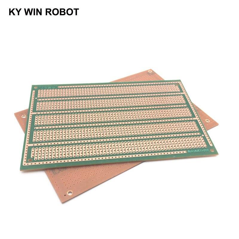 1 шт. DIY 10*15 см PF Односторонний Прототип бумаги PCB Универсальный Эксперимент Матрица печатная плата пять отверстий 10x15 см для Arduino