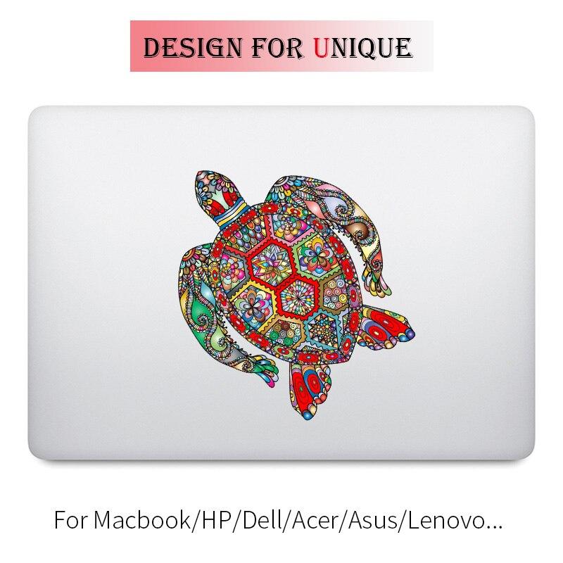 Pegatina colorida de tortuga preciosa para portátil, pegatina para Macbook de Apple Pro Air Retina de 11 12 13 15 pulgadas, vinilo Mac Acer, superficie de portátil
