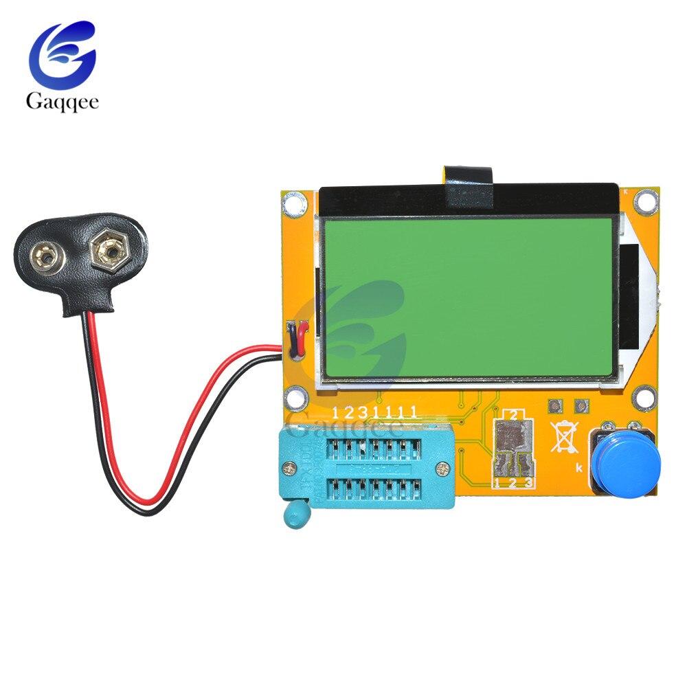 Mega328 LCR-T4 Transistor Tester de triodo capacitancia LCR ESR Metro módulo MOS PNP/NPN M328 ESR SCR MOSFET multímetro