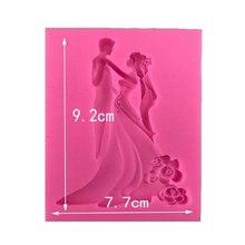 Heißer Verkauf Sugarcraft Hochzeit Silikon Form Fondant Form Kuchen Dekorieren Werkzeuge Schokolade Gum Paste Mold