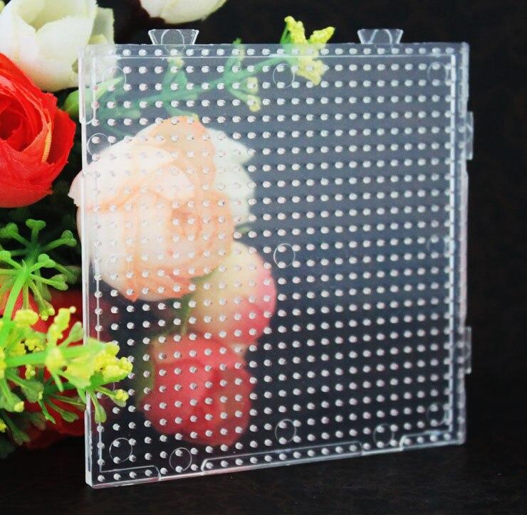 Envío Gratis pequeños cuadros cuadrados de 2,6mm para hama cuentas perler perlas DIY juguetes educativos para niños