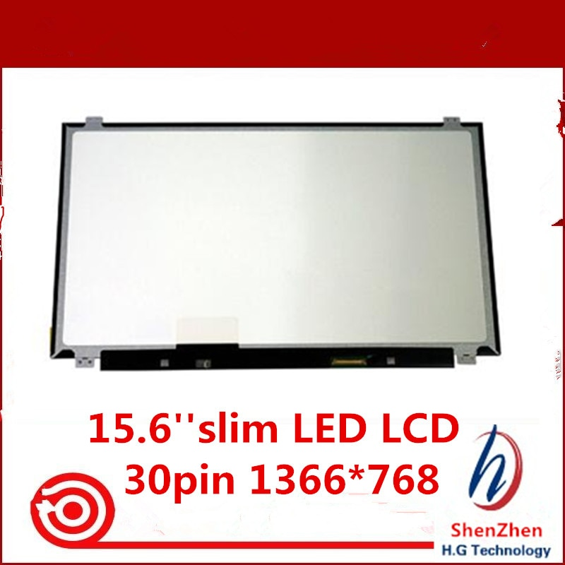 Original 15.6 eDP LED B156XTN04.0 B156XTN04.1 B156XTN04.4 NT156WHM-N12 LP156WHB C1 TP Para lenovo y50 Laptop tela LCD 1366*768
