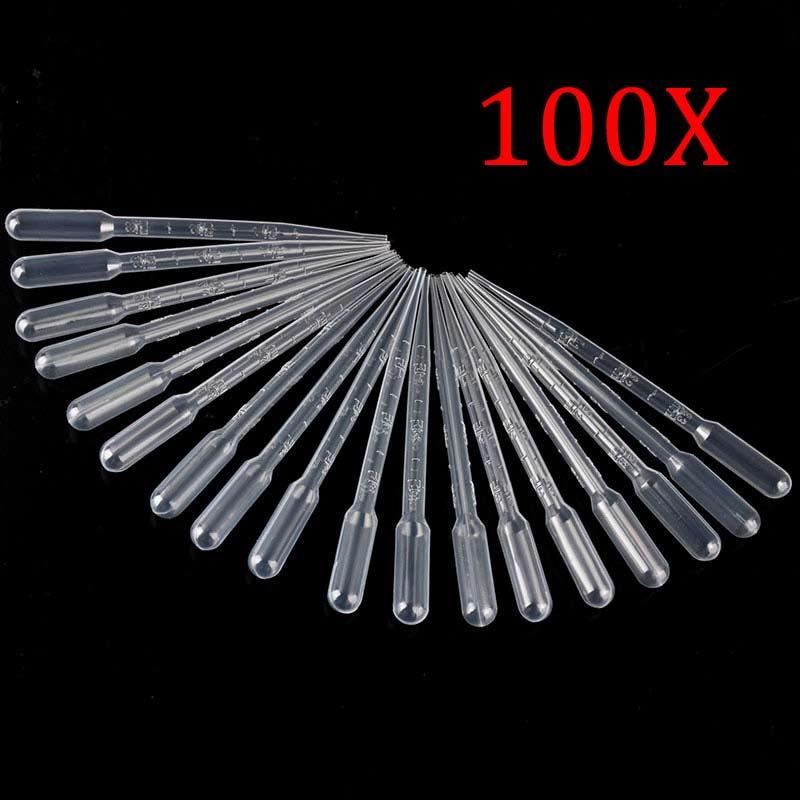 100 Uds 3ML plástico transparente desechable Pipet Droppers transferencia pipetas para Drop Shipping