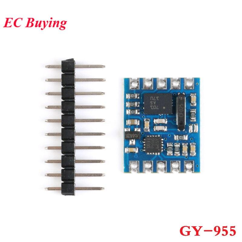 Sensor de navegación GY-955 Módulo de navegación de 9 ejes 9 ejes Kalman Filter AHRS Sensor giroscopio magnetómetro brújula electrónica