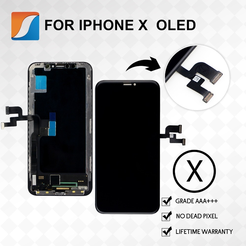 10 +++ PÇS/LOTE AAA Para o iphone X XS Max XR OLED Tela Substituição Assembleia Para o iphone Display LCD de Pixel Não Morto