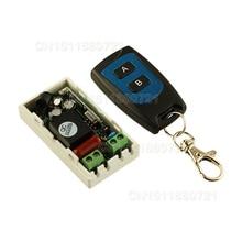 En iyi Fiyat AC 220 V 1CH Kablosuz Uzaktan Kumanda Anahtarı Sistemi Alıcı Verici 2 Düğmeler Su Geçirmez Uzaktan 315 mhz/ 433.92 mhz