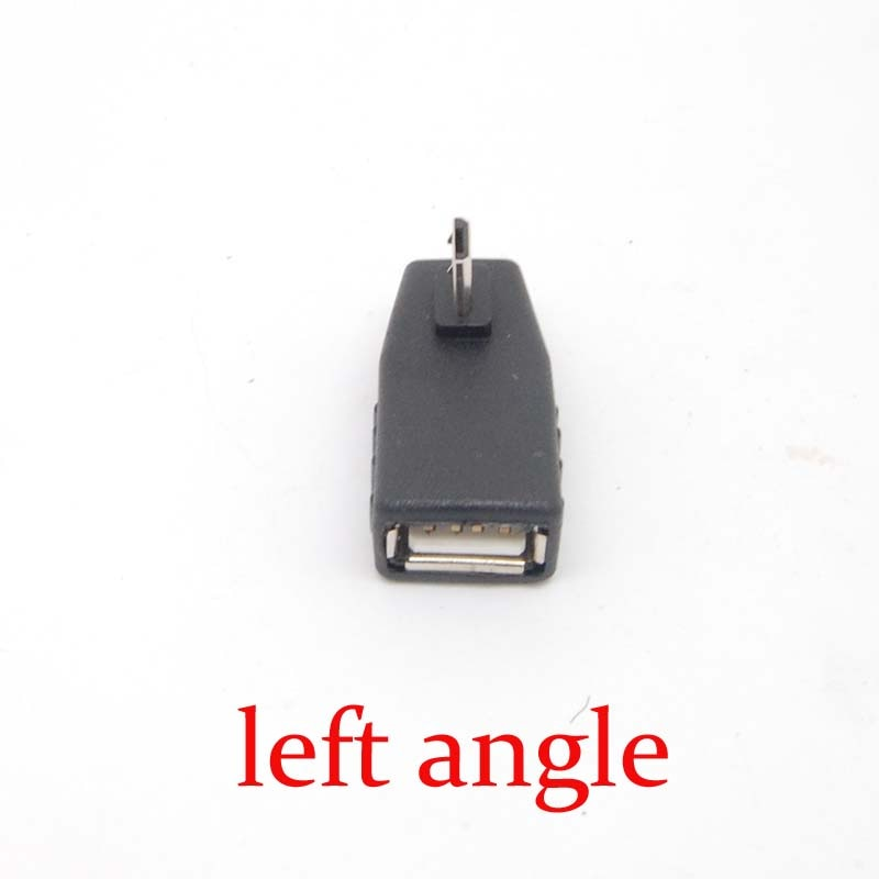 90 Graus de ângulo esquerdo do Sexo Feminino para micro USB 2.0 B Masculino 5Pin OTG Adapter Converter NOVA