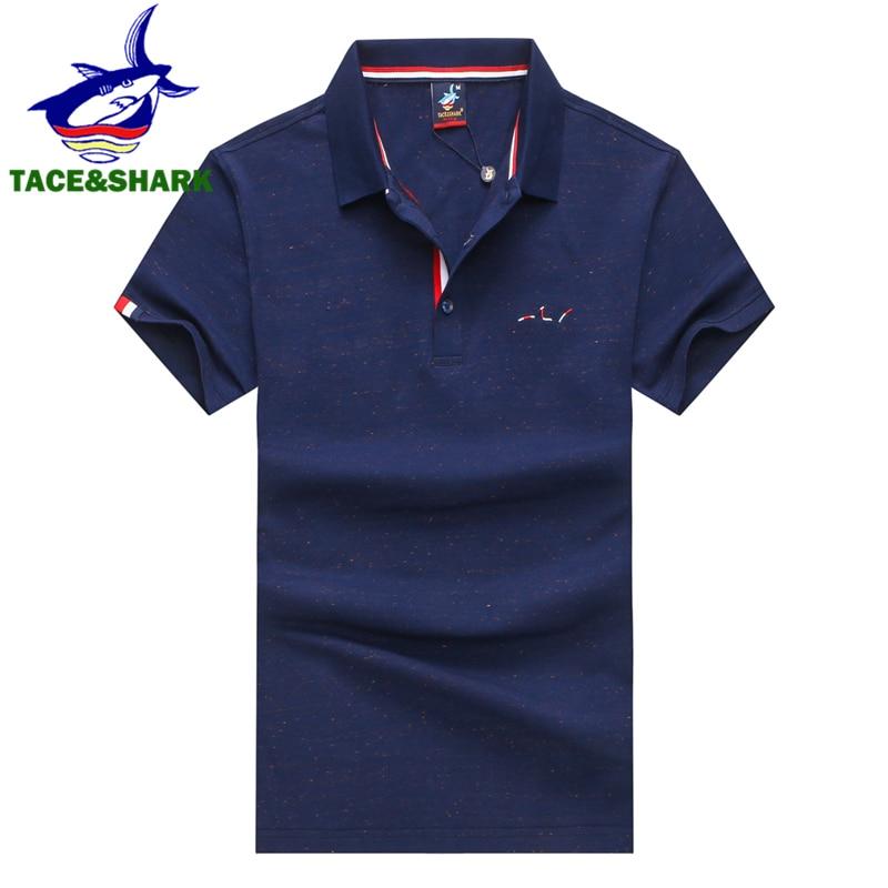 Tace & shark marca masculina moda masculina camisa polo vermelho negócios casual cor sólida masculino manga curta polos camisa homme