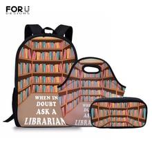 FORUDESIGNS mode sac à dos pour enfants sacs décole ensemble filles bibliothécaire vie sacs à dos enfants cartable Portable Bookbag Mochila
