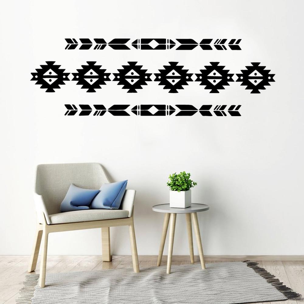 Patrones geométricos creativos pegatinas de pared animales decoración del hogar para fondo de sala de niños calcomanía de arte de pared